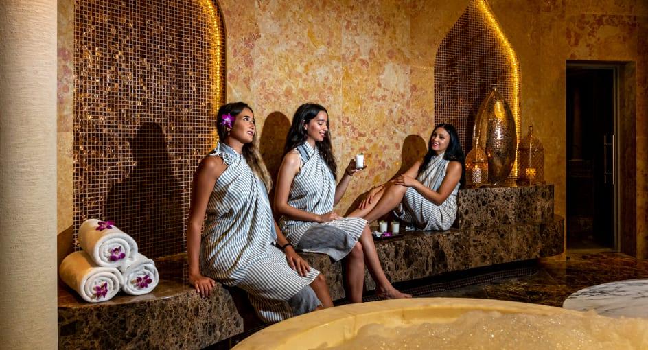 Women Enjoying Spa Treatments at Abu Dhabi Hotel