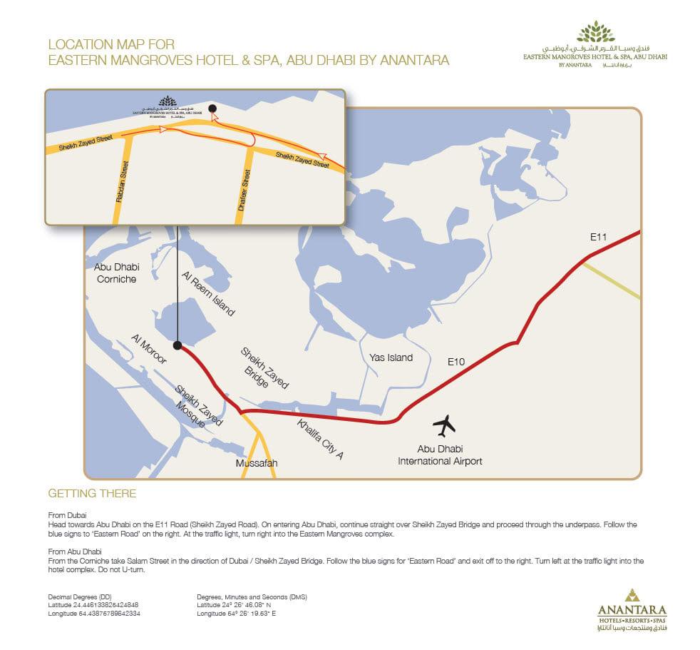 5 Star Hotels Abu Dhabi | Contact Us | Eastern Mangroves Hotel & Spa