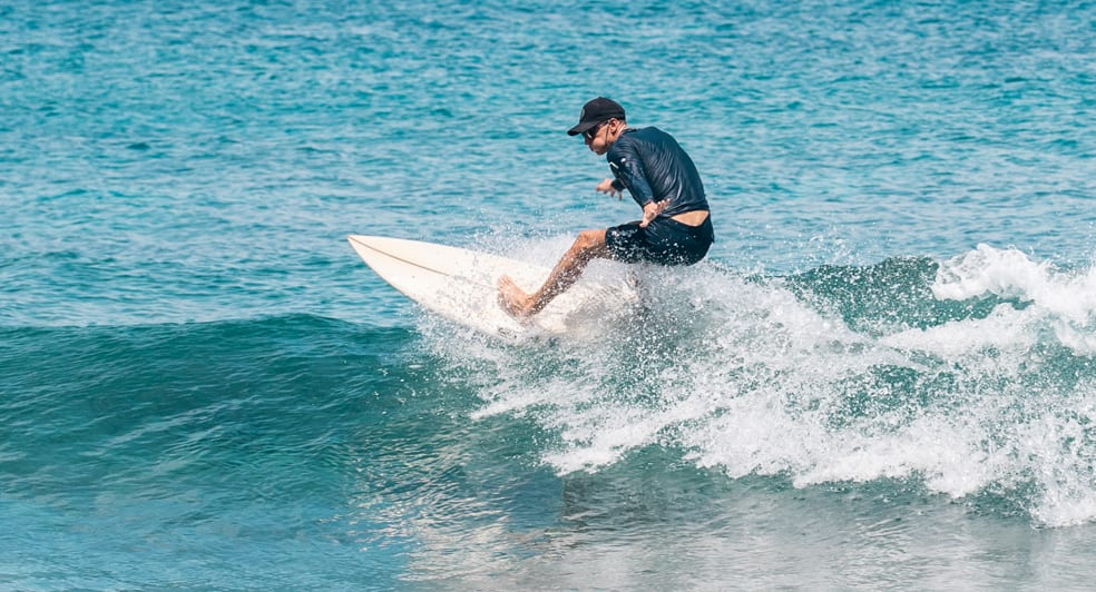 Surfing at Anantara Maldives