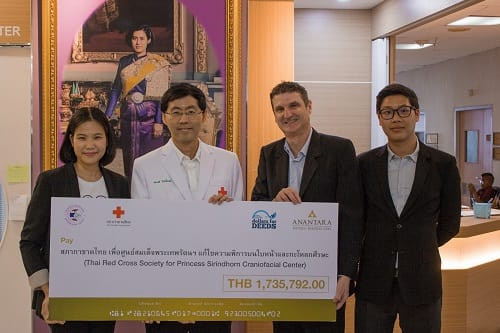 Anantara Donates Over THB 1.7 Million to the Princess Sirindhorn Craniofacial Center