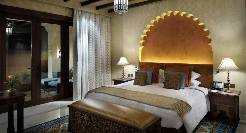Spacious Bed of Deluxe Garden Room at Abu Dhabi Resort