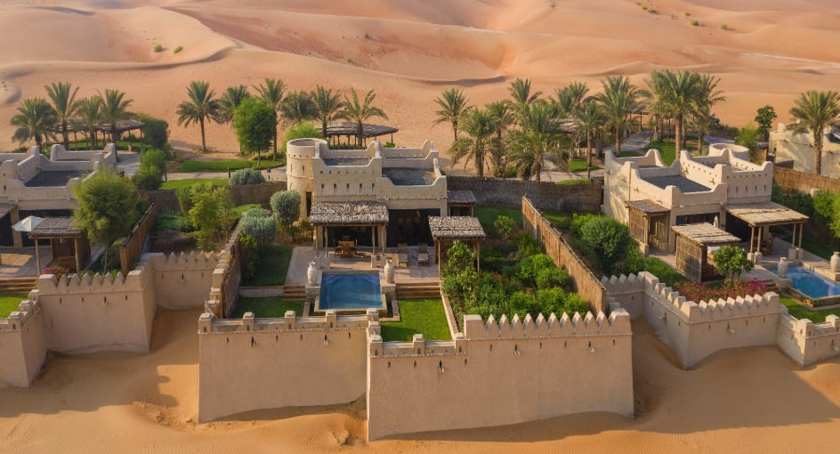 Exterior View of One Bedroom Villas in the Middle of the Desert