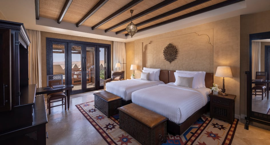 Spacious Beds at Three Bedroom Family Hotel