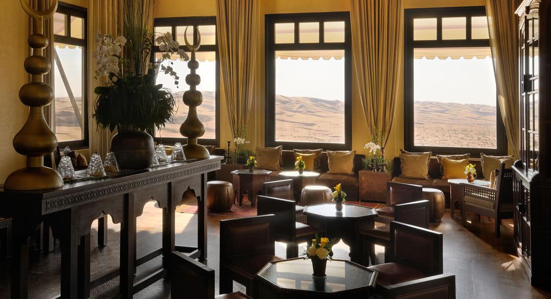 Dining Setup of Al Liwan Lobby Lounge Abu Dhabi