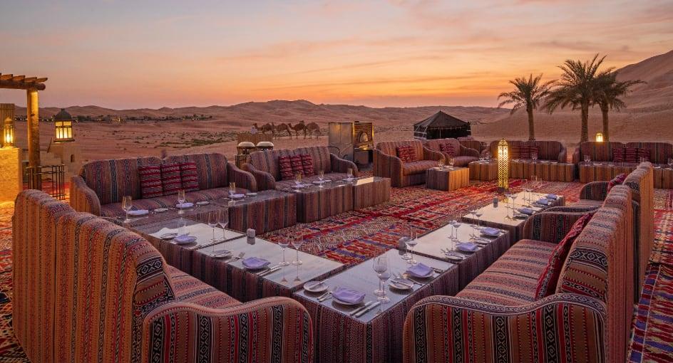 Outdoor Restaurant Qasr Al Sarab Abu Dhabi Desert Resort