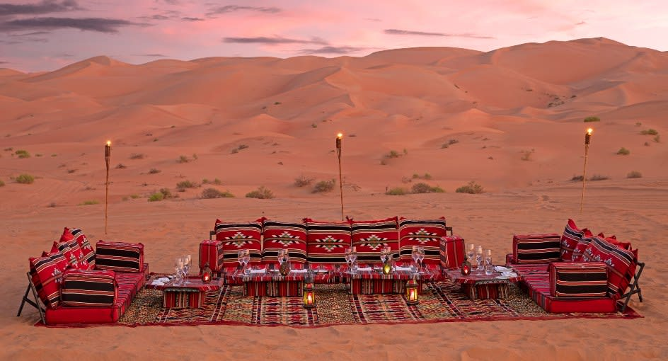 Dining on Desert Experience in Abu Dhabi