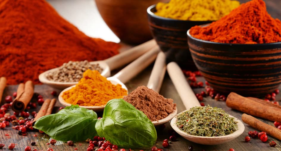Range of Spices at Spice Spoon Culinary Restaurant Abu Dhabi