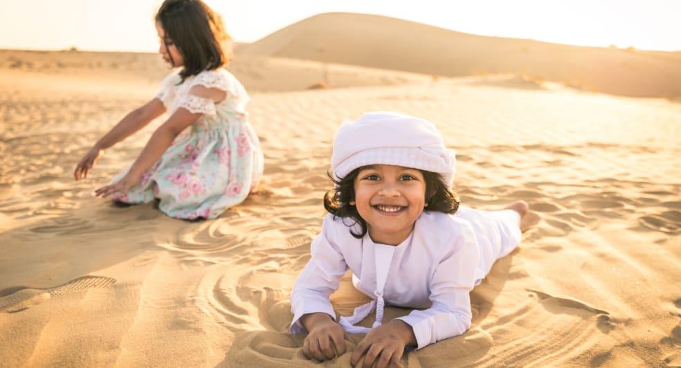 Kids Excursions in Abu Dhabi Desert