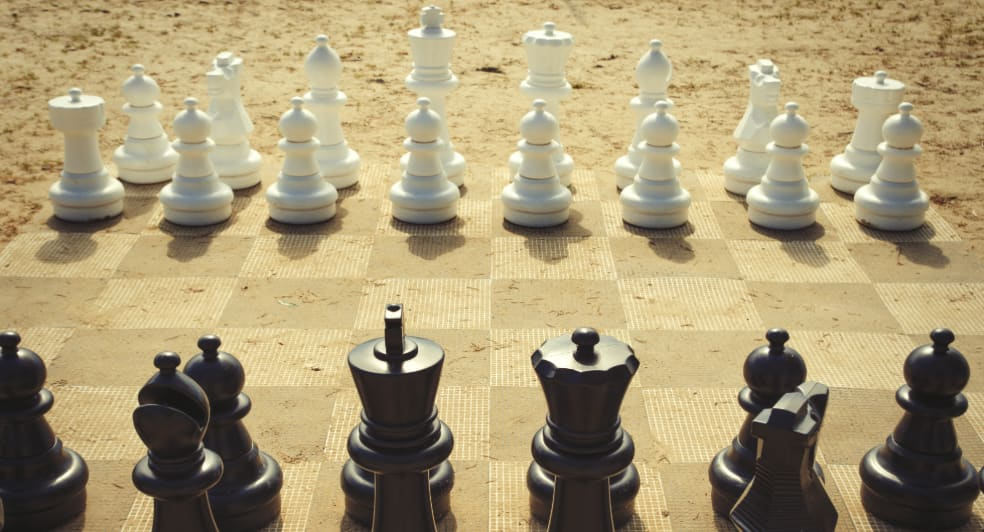 Giant Chess Board at Qasr Al Sarab Desert Resort