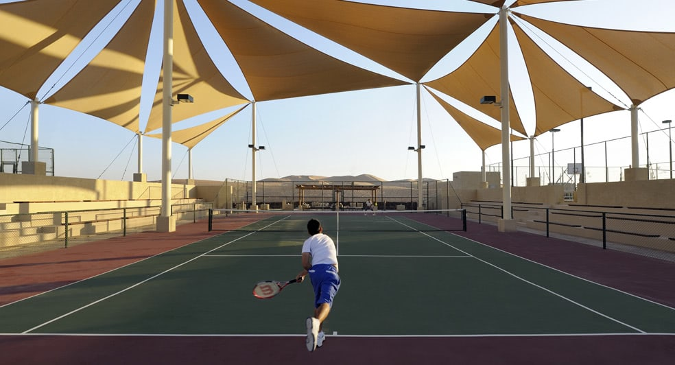 Tennis Court of Qasr Al Sarab Desert Resort