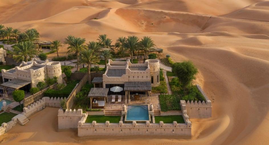 Top View of Luxury Royal Pavilion Villas