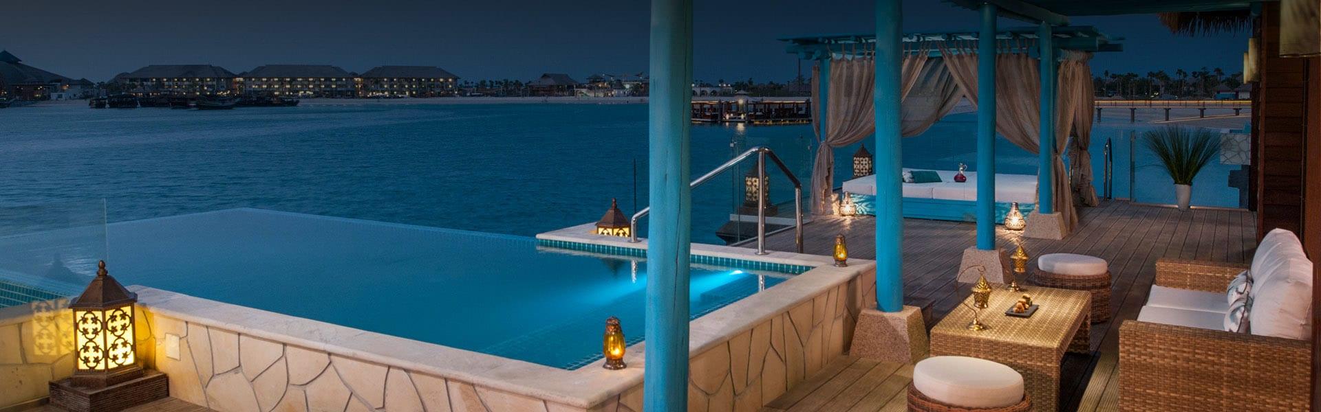 Doha Luxury Hotels | Over Water Villas in Doha at Banana Island Resort